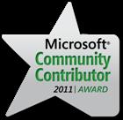 Microsoft Community Contributor Award