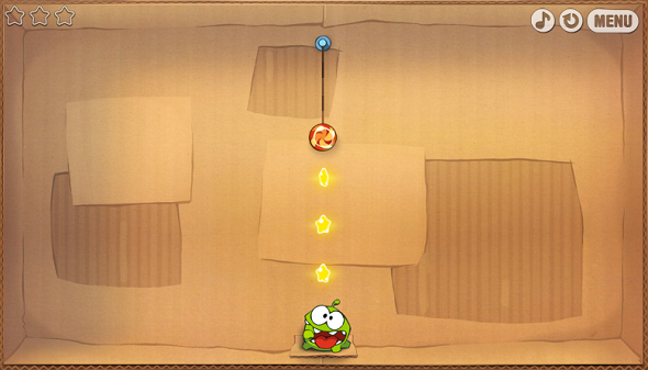 educational puzzle solving Cut The Rope game for children