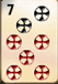 Mahjong Titans ball tiles with numbers seven