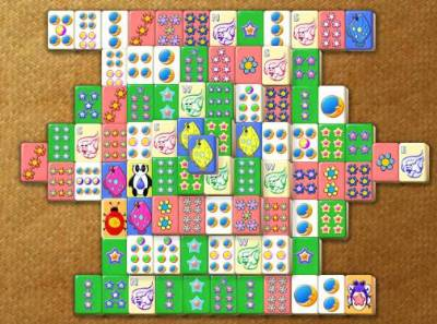 Mahjong Titans pastel tiles for children