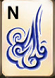 Mahjong Titans wind tiles blue n