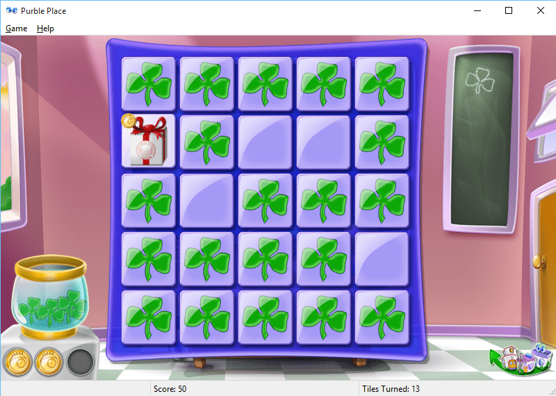 play Purble Pairs Purble Place game on Windows 10