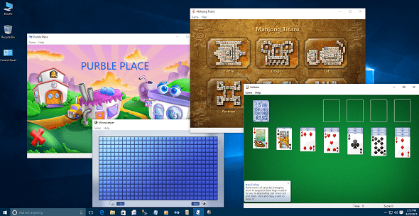 Download Purble Place and Windows 7 games and Play on Windows 10