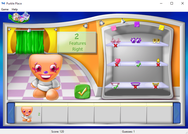 play Purble Shop Purble Place game on Windows 10