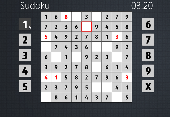 how to play Sudoku game in Windows 8