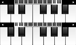 Piano Windows 8 virtual piano app with two keyboards