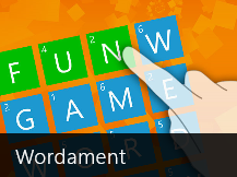 Windows 8 games Wordament game