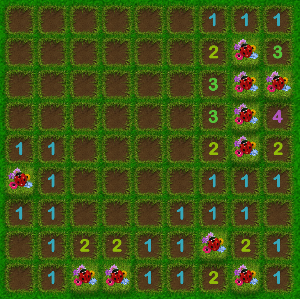 Windows 8 games Minesweeper game flower garden theme
