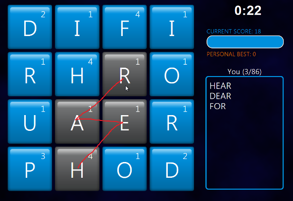 Word search educational games Word Hunt in Windows 8