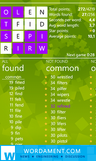 Wordament game tips using Prefix and Suffix