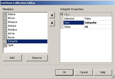 ListItem Collection Editor