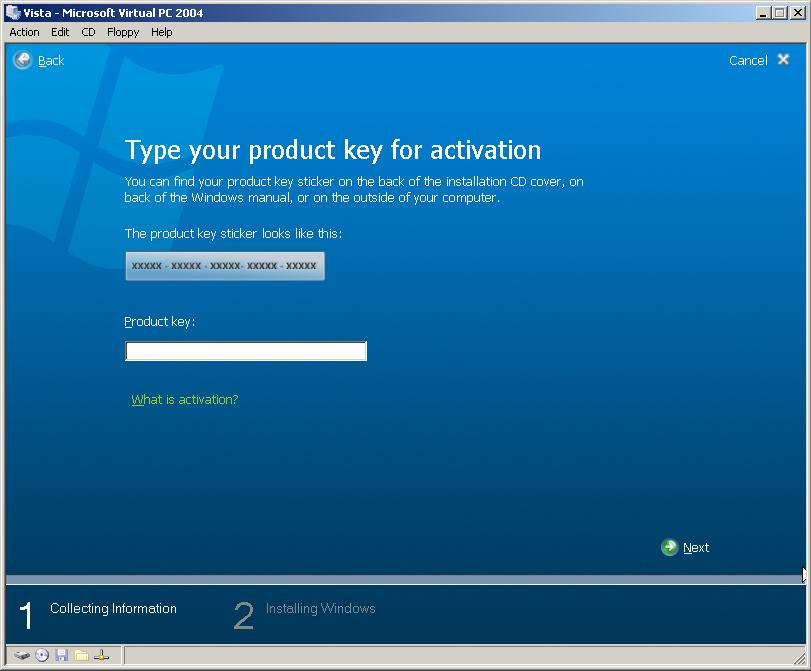 Windows Vista Product Keys List