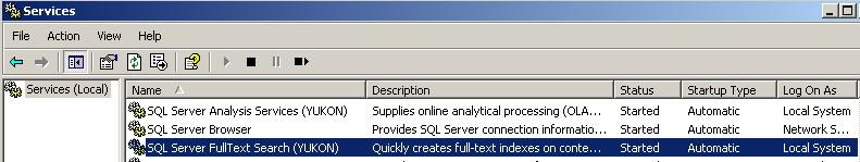SQL Server FullText Search service