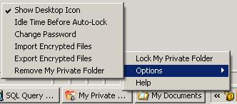 my private folder tray icon