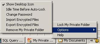 my private folder tray icon