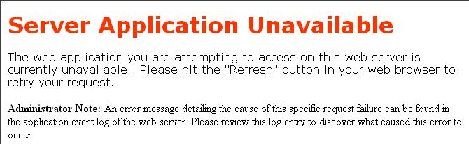 Server-Application-Unavailable
