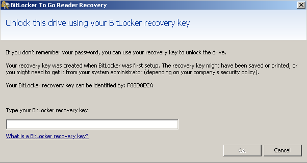 BitLocker Recover Password