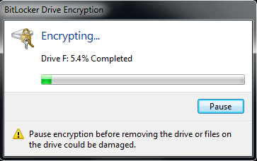 Windows 7 Encrypting by BitLocker