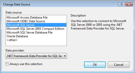 SQL Data Source