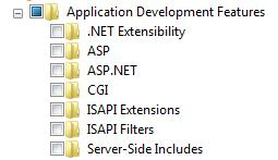 Application Development Features