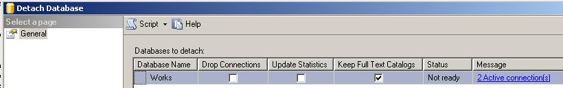SQL Server detach database