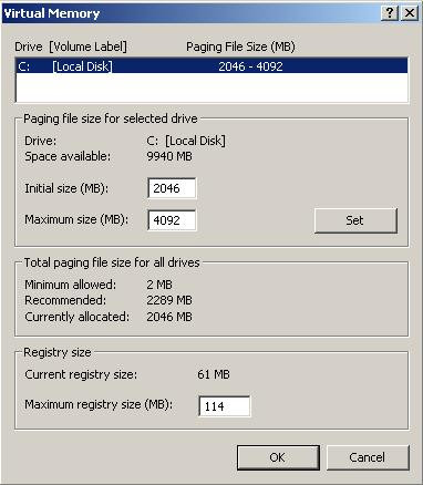 change maximum windows registry size