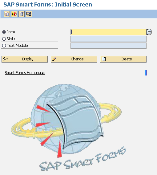 SAP Smart Forms initial screen