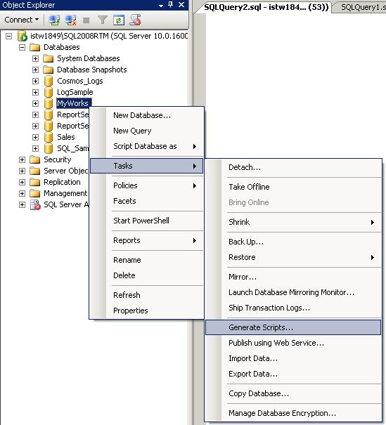 Generate Scripts task