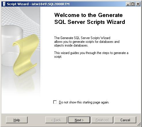 SQL Server 2008 Script Wizard