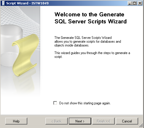ms sql server 2008 script wizard