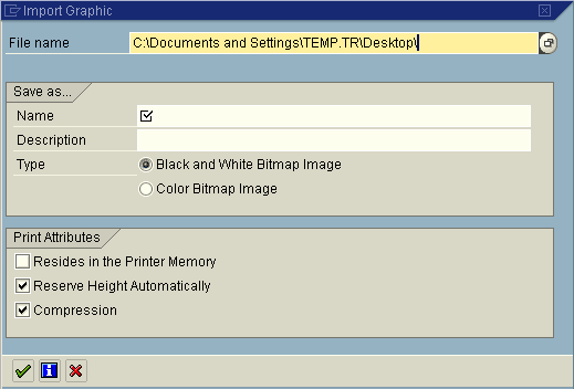 import graphic on se78 sap transaction screen