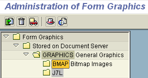 upload bitmap images bmap to sap document server