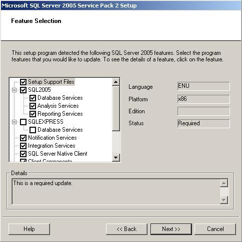 microsoft sql server 2005 service pack 2 download