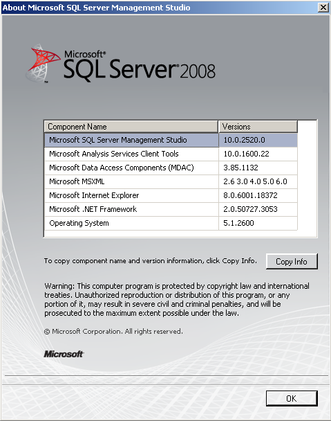 sql server management studio 2008 r2  for windows 7