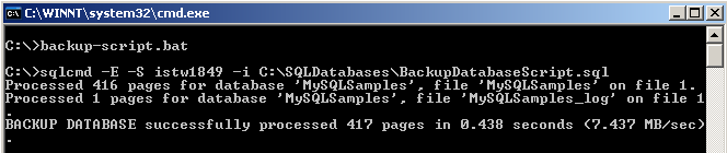 t-sql sqlcmd command for running sql scripts using command prompt