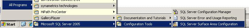 how to configure sql server 2005 to allow remote connections