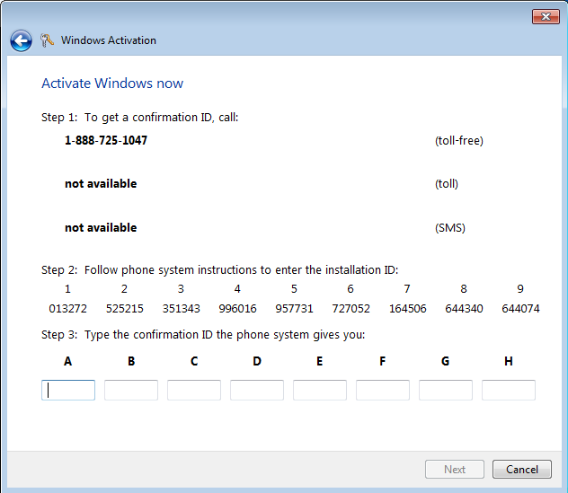 windows xp phone activation generator