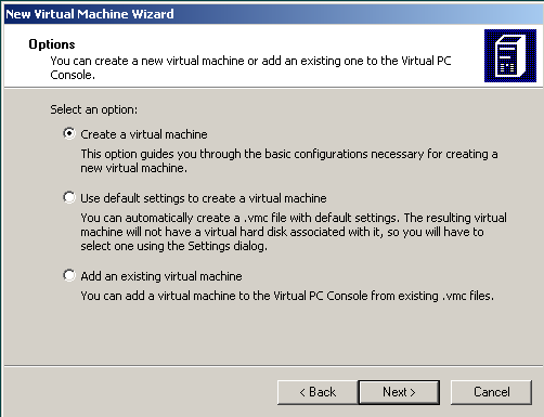 create virtual machine for Windows 7