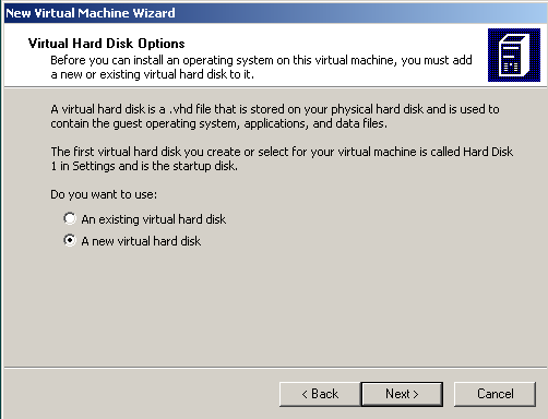 creat new virtual hard disk for Windows 7