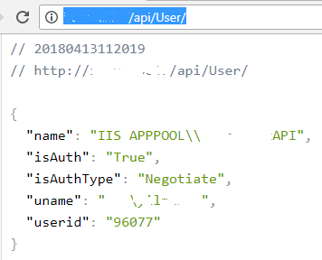 test web api using GET request method on Chrome web browser