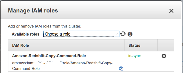 add new IAM role for Amazon Redshift cluster