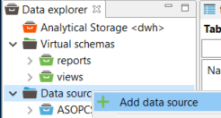 add new data source to Data Virtuality server