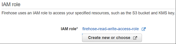 IAM role assigned to Amazon Kinesis Firehose delivery stream