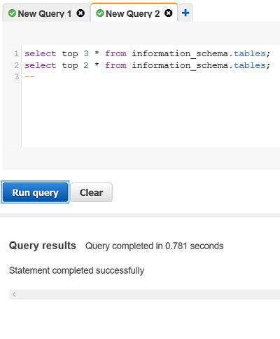 Query editor problems for Amazon Redshift
