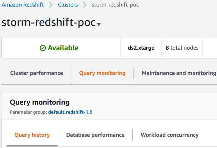 query monitoring tool on Amazon Redshift cluster