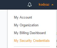 AWS Security Credentials