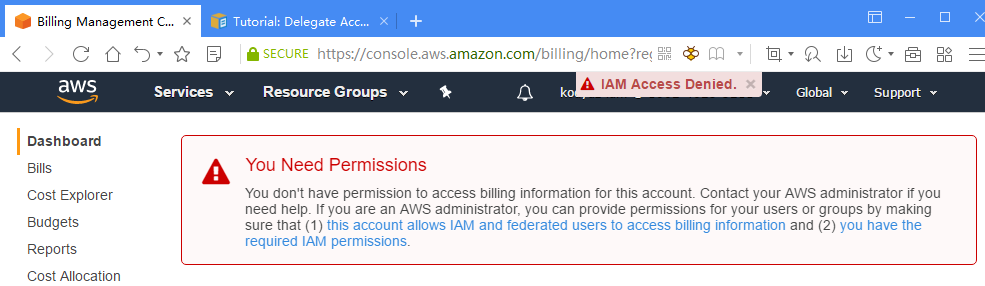 Enable AWS IAM Users Access to Billing Information