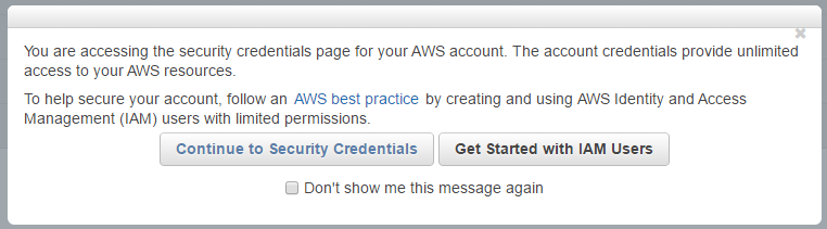 AWS IAM Identity and Access Management user