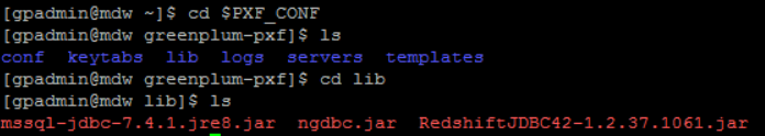 jdbc driver files in lib folder