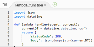 scheduled Lambda function code in Python